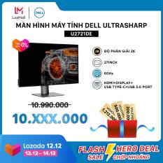 [VC500K+FREESHIP+TRẢ GÓP 0%] Màn Hình Máy Tính Dell UltraSharp U2721DE 27inch 2K IPS 60hz 5ms Cổng RJ45 HDMI+Display+USB Type-C+USB 3.0 Port