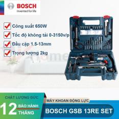 Máy khoan động lực Bosch GSB 13 Re set và Bộ 100 chi tiết (TẶNG TÚI DÂY RÚT BOSCH)