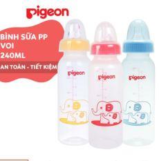 Bình Sữa Pigeon Cổ Hẹp 120ml/240ml Nhựa PP Tiêu Chuẩn – Hàng Việt Nam – Phân phối chính hãng Minh Việt