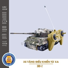 Xe đồ chơi mẫu xe tăng điều khiển từ xa cho bé trai dùng pin có đèn có âm thanh 369 DKMGT