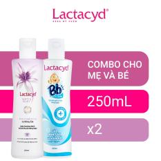 Bộ 2 Chai Dung Dịch Vệ Sinh Phụ Nữ Lactacyd Soft & Silky 250ml + Sữa Tắm Gội Trẻ Em BB 250ml