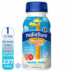 [ PHỤC HỒI SỨC KHOẺ ] 01 Chai 237ml Sữa Nước PediaSure hương Vanilla Grow & Gain của Mỹ (Date: 02/2021)