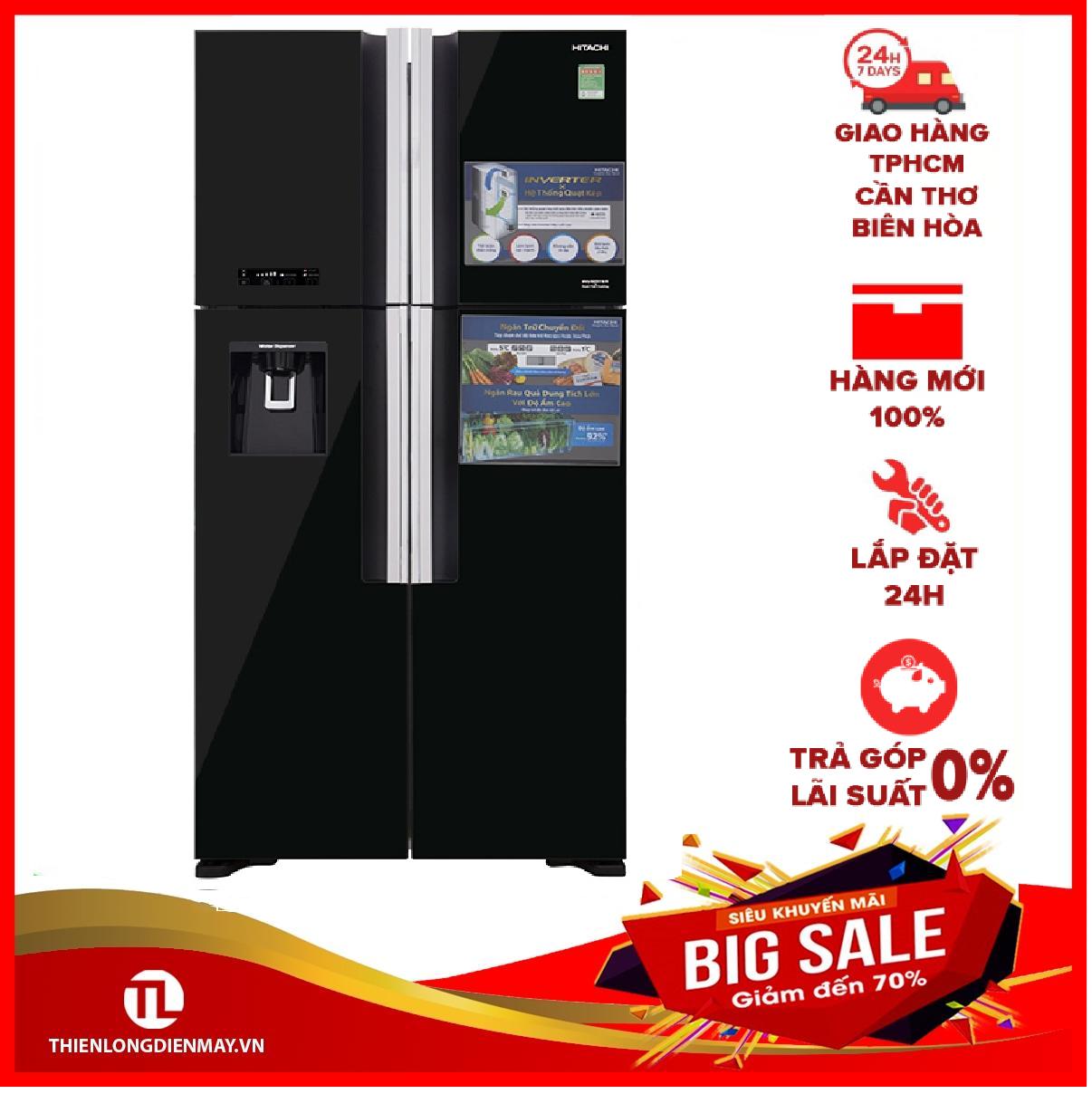 [THU THẬP VOUCHER 1.000K TỪ LZD] Tủ lạnh Hitachi Inverter 540 lít R-FW690PGV7X GBK