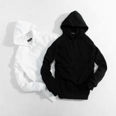 Áo Hoodie nam nữ unisex đôi cặp form rộng trơn trắng đen có mũ đẹp chất nỉ phong cách trẻ trung Hàn Quốc nội địa