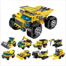 Bộ lắp ráp kiểu lego 8 trong 1 – mô hình xe xây dựng