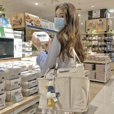 Túi bỉm sữa VegieBAG túi vải đa năng cho mẹ và bé