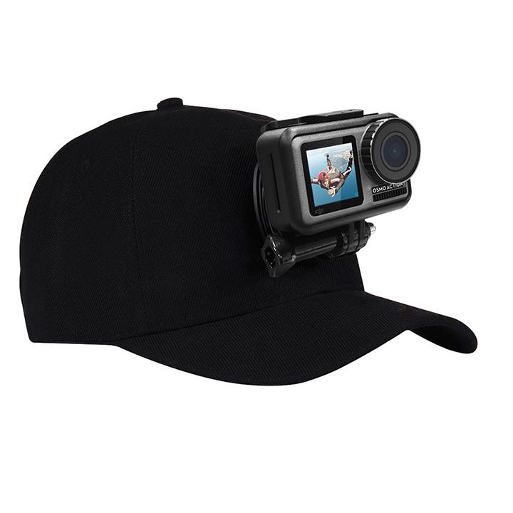 Mũ lưỡi trai gắn GoPro 8 / 7 / 6 / 5 và Action Cam hãng Puluz kèm đế và vít vặn