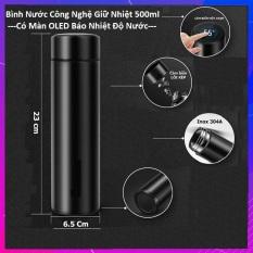 Bình giữ nhiệt Inox thông minh có mặt LED hiển thị nhiệt độ – Bình nước 500ml ruột Inox 304 an toàn với sức khỏe
