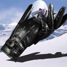 Găng tay da PU cho Nam Nữ, KÍN NGÓN, chống trượt, màn hình cảm ứng, Giữ Ấm Mùa Đông, thu và đông, chống thấm nước