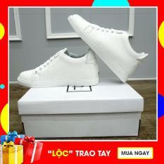 Giày thể thao nam sneaker tăng chiều cao ẩn (trắng)