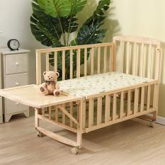 Cũi gỗ thông 2 tầng tặng kèm màn size 105cm. Gỗ thông chắc chắn, màn chống côn trùng tiện lợi, bánh xe di chuyển, sử dụng làm bàn khi bé lớn. KAWAII HOME