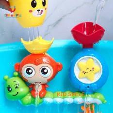 Đồ chơi mùa hè cho trẻ em, đồ chơi nhà tắm rót nước nghịch nước hình chú khỉ đáng yêu size lớn (có miếng dán hút) nhựa ABS cao cấp