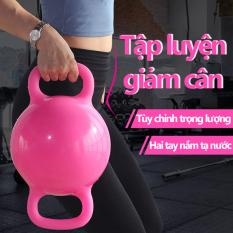 Tạ tay tạ tập gym tạ tập yoga hình tròn tạ nước đổ nước vào tùy chỉnh trọng lượng tạ nam tạ nữ hai màu hồng và xanh lam tạ tập tay tại nhà Keep Going Max