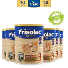 [Tặng 4 gói khăn ướt Huggies 64 tờ trị giá 132K] 6 lon Sữa Bột Friso Gold 3 1.5kg cho trẻ từ 1-2 tuổi – HSD tháng 10/2022