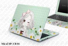 Miếng dán laptop CUTE GIRL cho các dòng máy dell/asus/acer/macbook/. . . V.No Store