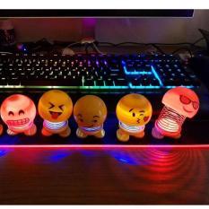 (Có Đèn)Emoji lò xo thú nhún loại có đèn nhấp nháy 7 màu siêu đẹp