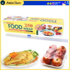 ( SIZE LỚN ) Màng bọc thực phẩm – Ecook P250 ( 30cmx150Y ) – Có dao cắt tiện dụng – thực phẩm ECOOK FOOD WRAP P250 được sản xuất từ nhựa PVC không lẫn tạp chất