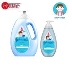 Bộ sản phẩm sữa tắm và dầu gội thơm mát năng động Active fresh Johnsons hương thơm mạnh mẽ sảng khoái
