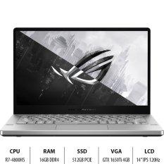Laptop Gaming ASUS GA401II-HE155T R7-4800HS/16GD4/512G-PCIE/14.0FHD/WF6/4C76WHr/TRẮNG/W10SL/4GD6-GTX1650Ti/Túi/Anime