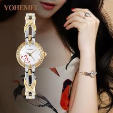 [Xả lỗ do dịch Corona] Đồng hồ nữ lắc tay đính đá YOHEMEI CH382