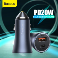 Baseus 40W Car Charger Dual Port Fast Phone Charger with QC 4.0 3.0 Quick Charge Type C PD 20W Fast Charger ForiPhone 12 Max Pro