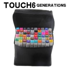 Bộ 30 bút màu Marker Touchliit 6 chất liệu nhựa an toàn, màu lên tươi, đầu bút tô êm và mịn.