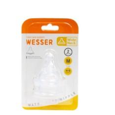 Núm Vú Wesser Silicon Cổ Rộng Vỉ 2 Cái Siêu Mền, chất lượng đảm bảo an toàn đến sức khỏe người sử dụng cam kết hàng đúng mô tả