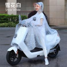 Áo mưa chấm bi có kính che mặt an toàn
