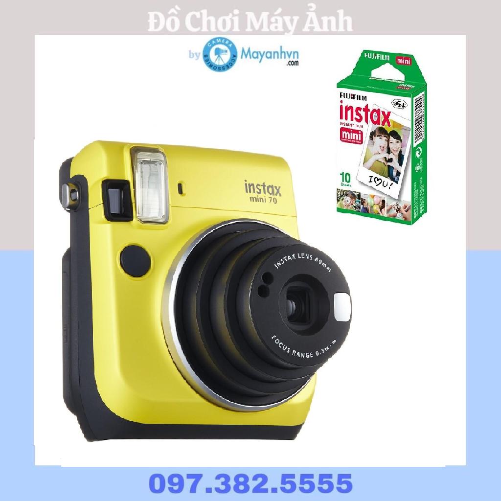 Máy chụp ảnh lấy ngay Fujifilm Instax Mini 70 màu Vàng + 10 tấm ảnh instax mini