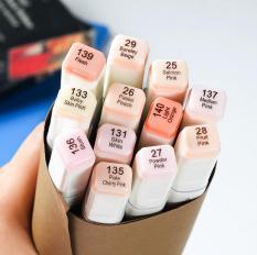 [ MIỄN PHÍ VẬN CHUYỂN ] – Bộ bút màu Marker Touchliit 6 – set 12 màu da