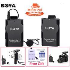 Micro không dây cài áo cho điện thoại Boya BY-WM4 Thế hệ thứ 2 – WM4 Mark II [Công ty nhập khẩu và phân phối] + TẶNG kèm bộ sạc pin và 04 pin sạc dung lượng cao