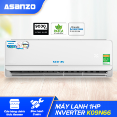 Máy Lạnh Asanzo Inverter iKool 1HP K09N66 ( Công Nghệ Tiết Kiệm Điện, Làm Lạnh Nhanh) – Hàng Chính Hãng Bảo Hành 2 Năm