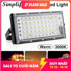 Đèn LED Chiếu Sáng Ngoài Trời Simplife, Đèn Pha COB 50W Trắng/Ấm IP65 Đa Góc Có Tay Cầm Xoay Được Cho Lối Đi Sân vườn