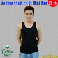 Áo thun ba lỗ nam, 100% cotton, áo thun thoát nhiệt Nhật Bản, thương hiệu GOKING