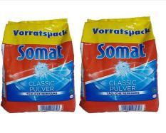 Combo 02 gói bột rửa chén cho máy Somat Detergent Power 1.2kg