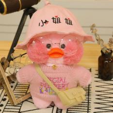 Vịt bông má hồng môi trề Lalafanfan full phụ kiện, đảm bảo y hình, hàng QC cao cấp