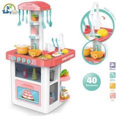 Đồ chơi nấu ăn 40 món có tủ lạnh và máy hút mùi cao cấp 889-59 BBT Global