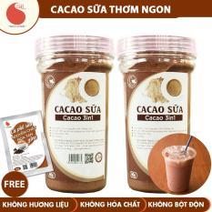 Combo 2 HŨ bột cacao sữa thơm ngon, Light Cacao , không hương liệu , không chất độn – 90g/hũ