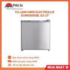 [Nhập ELMAY21 giảm 10% tối đa 200k đơn từ 99k]Tủ lạnh mini Electrolux EUM0500SB 52 lít
