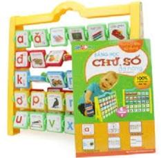 (N0.001-002) Bảng chữ số đa năng cho bé 2-4 tuổi ANTONA