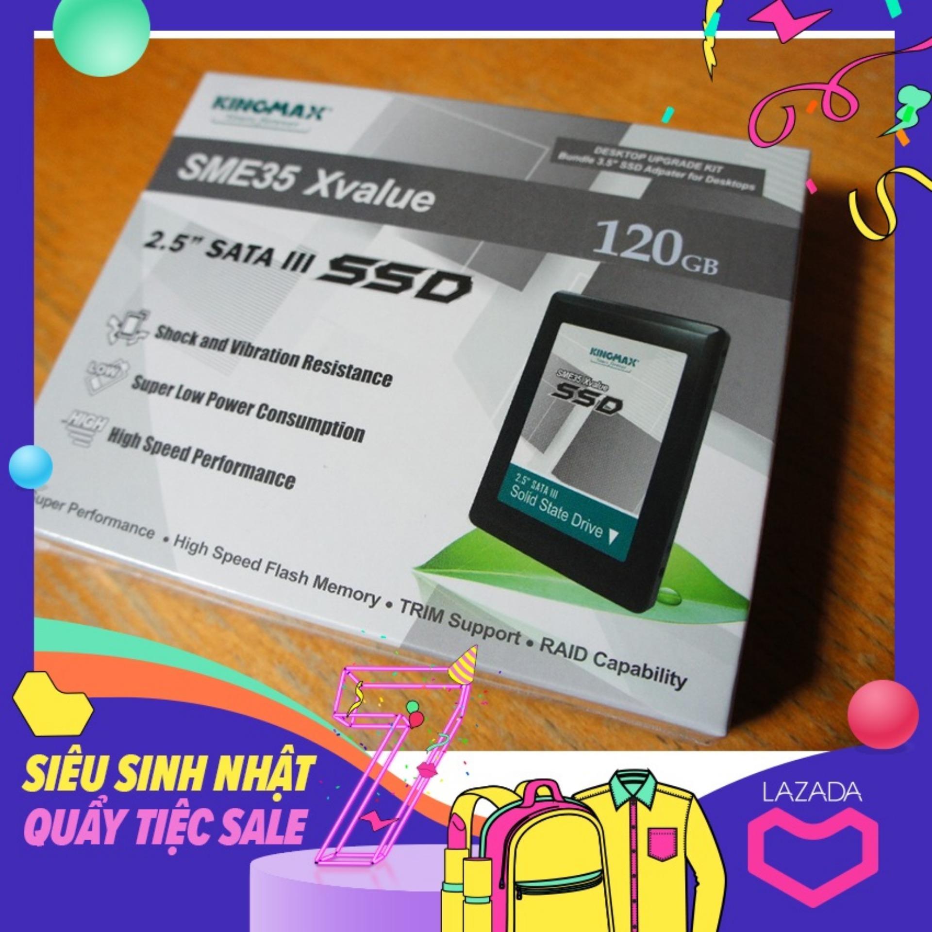 Ổ Cứng SSD Kingmax 120Gb - Bảo Hành 1 đổi 1 in 3 năm
