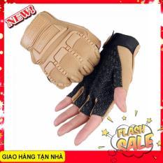 Găng tay nam cụt ngón lái xe , tập gym , du lịch phượt bảo vệ mu bàn tay và tăng độ bám Mechanix Mpact