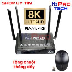 Tivi box Pana X6688 ram 4G, 8K, ram 4G, 4 râu, tặng chuột forter V181