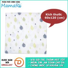 Khăn tắm vải sợi tre cho bé 60×120 Mamaru MA-KT60X120 – Diệt khuẩn, hút ẩm tốt, kháng tia UV- Dmall247, mẹ và bé