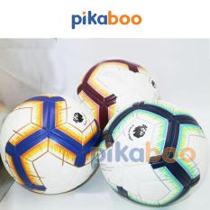 Bóng đá ngoại hạng anh Pikaboo cao cấp trắng pha nhiều màu chất liệu PVC bền đẹp đá êm chân loại loại to 21.5cm FBS5
