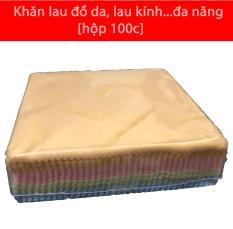 Khăn lau đồ da/khăn lau kính mềm mịn..đa năng [Hộp 100c]