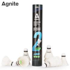 Quả cầu lông Agnite chính hãng, Hộp 12 quả, Lông vịt thẳng, Chắc chắn, Chịu va đập tốt, Đường cầu bay ổn định – F2202S