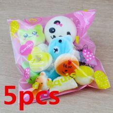 Mới 5 Cái Squishy Bánh Panda Bánh Mì Keychain Chậm Tăng Squishy Đồ Chơi Thực Phẩm