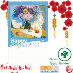XẢ HÀNG – Lịch tường 2021 – 7 tờ Tranh Sơn Dầu (lò xo) 40x63cm