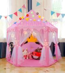 Lều công chúa hoàng tử mẫu mới cho bé yêu hình lục giác kèm bóng nhay trang trí dài 3 mét – Lều ngủ công chúa